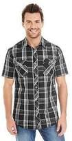 Burnside Short Sleeve Plaid Shirt.B9202
