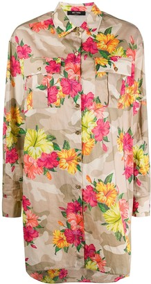 Twin-Set Long Sleeve Floral Print Shirt