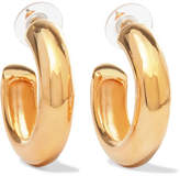 Kenneth Jay Lane Gold-plated Hoop Earrings - One size