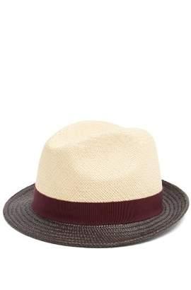 Prada Tri-colour Straw Hat - Mens - Beige Multi