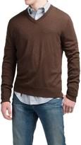 Cullen C89men Lightweight Merino Wool Sweater - V-Neck (For Men)