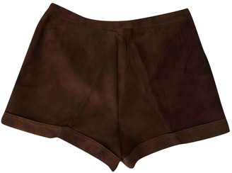 Gucci Brown Suede Shorts