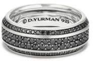 David Yurman Black Diamonds Beveled Edge Band Bracelet