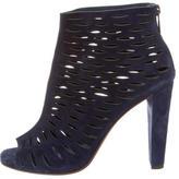 Diane von Furstenberg Suede Laser Cut Ankle Boots