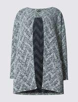 Marks and Spencer Chevron Print Long Sleeve Cardigan