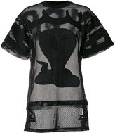 Kokon To Zai poison cobra embroidered mesh T-shirt