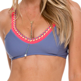 Luli Fama Multicolor Crochet Sporty Top In Blue moon (L528405)