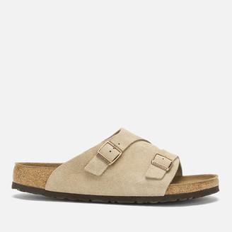 Birkenstock Men's Zurich Sfb Suede Slide Sandals - Taupe