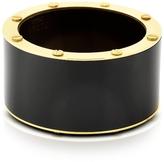 Pluma Black Resin and Brass Double Viti Large Bangle