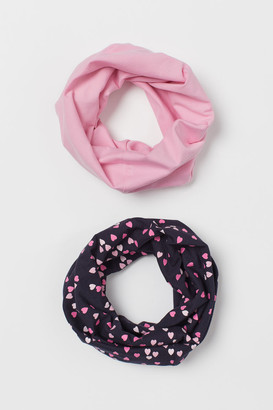 H&M 2-Pack Jersey Tube Scarves