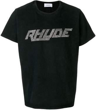Rhude rhinestone logo crew neck T-shirt