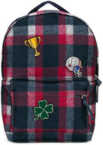 Dolce & Gabbana plaid backpack with patches