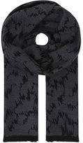 Lanvin Abstract Print Wool Scarf