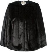 MICHAEL Michael Kors reversible faux fur cape - women - Modacrylic/Polyester - M