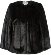 MICHAEL Michael Kors reversible faux fur cape - women - Modacrylic/Polyester - S