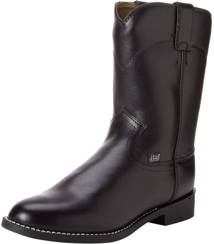 "Justin Boots Men's 3001 Farm & Ranch 10"" Boot Roper Toe Rubber Outsole"
