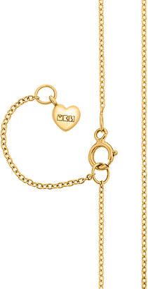MKS Jewellery 18K Yellow Gold Short Fine Chain Necklace
