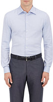 Giorgio Armani Men's Micro-Check Cotton Shirt-BLUE