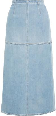 MM6 MAISON MARGIELA Layered Denim And Cotton-poplin Midi Skirt