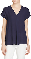 Lauren Ralph Lauren Georgette Cap Sleeve Top