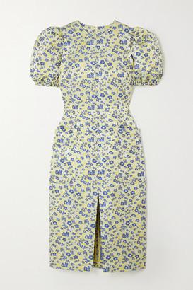 Rotate by Birger Christensen Katarina Floral-jacquard Dress - Yellow