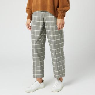 Whistles Women's Check Trouser - Grey/Multi - UK 6