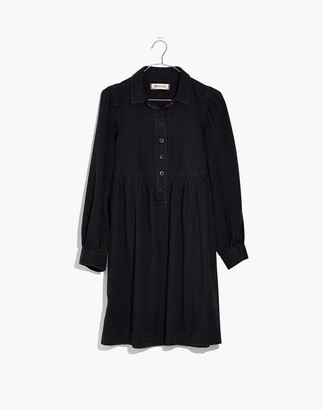 Madewell Denim Babydoll Shirtdress in Washed Black