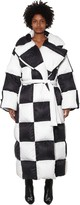 Off-White Off White Oversized Checker Puffer Coat