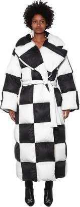 Off-White Oversized Checker Puffer Coat