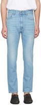 Maison Margiela Indigo High-Waisted Washed Jeans