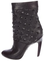 Emilio Pucci Studded Leather Ankle Boots