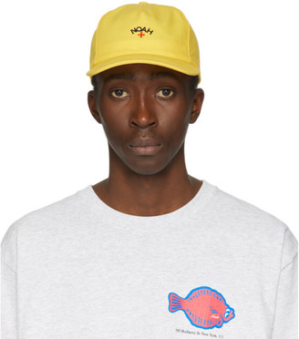 Noah NYC Yellow Canvas Core Logo Cap