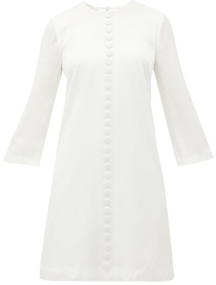 Goat Houston A-line Crepe Mini Dress - White