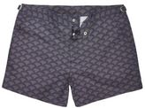 River Island MensOrange retro print swim trunks