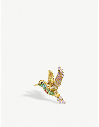 Thomas Sabo Magic Garden yellow gold-plated sterling silver and zirconia pendant
