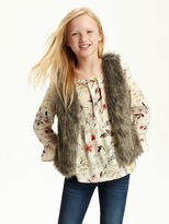 Old Navy Faux-Fur Vest for Girls