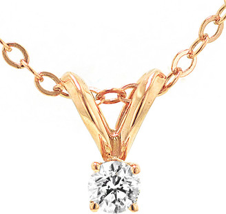 Nephora 14K Rose Gold 0.10 Ct. Tw. Diamond Necklace