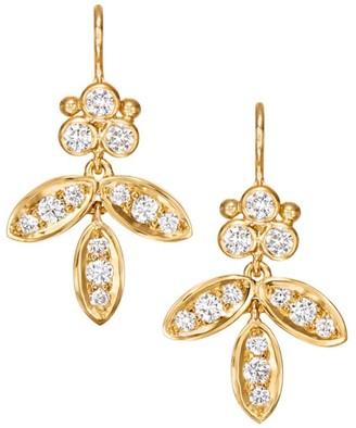 Temple St. Clair Foglia Diamond & 18K Yellow Gold Earrings