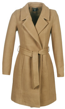 Only ONLREGINA women's Coat in Brown