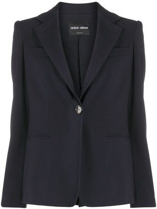 Giorgio Armani Single Breasted Boyfriend Blazer