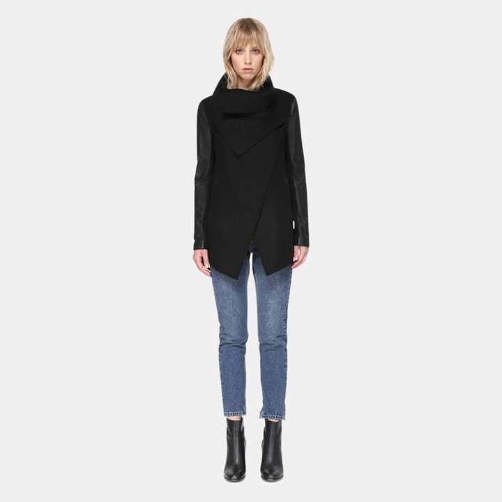 Mackage Vane Waterfall Collar Luxe Wool Jacket