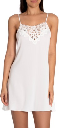 Jonquil Only Sleeping Lace Trim Satin Chemise