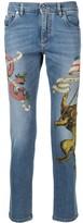Dolce & Gabbana heraldic lion printed jeans