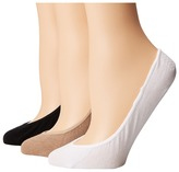 Sperry Padded Sole Liners 3-Pair Women's No Show Socks Shoes