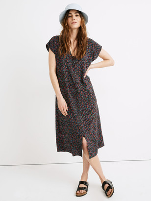 Madewell Easy V-Neck Midi Dress