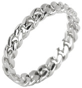 Argentovivo Sterling Silver Twisted Band Ring - Size 7