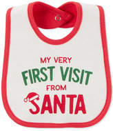 Carter's First Visit From Santa Cotton Bib, Baby Boys & Girls (0-24 months)
