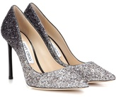 Jimmy Choo Romy 100 Glitter Pumps