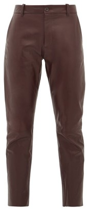 Nili Lotan East Hampton Panelled-leather Trousers - Burgundy