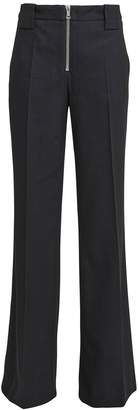 Victoria Victoria Beckham Victoria, Victoria Beckham Wool-Blend Front Zip Trousers